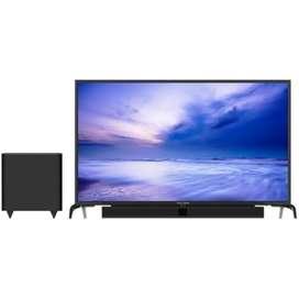 Led tv polytron 43 inc plus soundbar b.eir