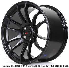 stock baru NOSHIRO 57E H482 HSR R18X85/95 H5X114,3 ET35/33 SMB