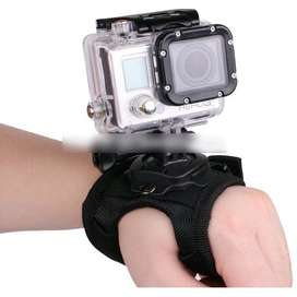 Glove Style Velcro Wrist Band with Mount for Xiaomi Yi / GoPro Hero