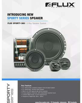 Speaker 3Way FLUX Sporty 360 Include Instalasi Garansi 1thn