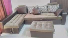 Sofa cum bed L type