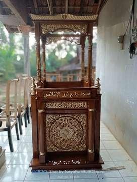 Mimbar masjid ukir Jepara asli dan bagus