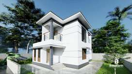 3 bhk new house, 4.79 cents1500 sqft, 350 mtr from highway, chelavoor