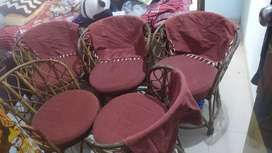 Wooden chairs set