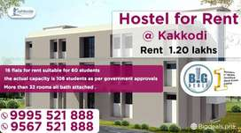 Ladies Hostel for rent at Kakkodi.