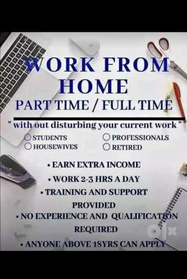 Spend your 1-2 hour per day (18+ anyone can apply)