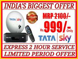 Mega Offer*New Dth@999 Only.TataSky,Airtel,Dish Tv,Sun Dth Offer`