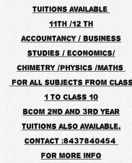Home tuitions available in chandigarh