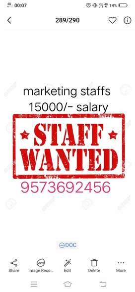 Wanted marketing person good salary