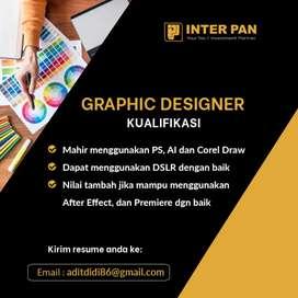 Lowongan pekerjaan ( Graphic Designer / Frontend )