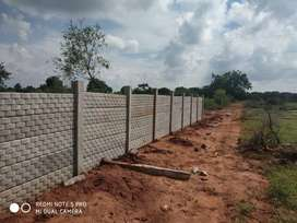 600 Sq Ft Clear Title Farm Land Plots for Sale near Srisailam Highway