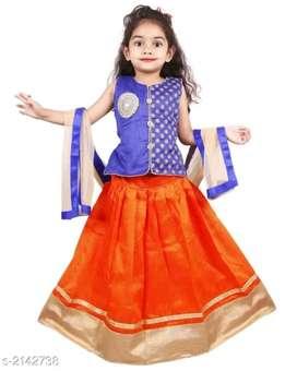 Princess Adorable Kids's Girl's Lehanga Choli Sets