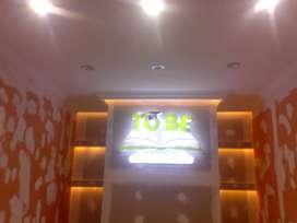 20rb/m2 jasa lampu LED plafon gypsum