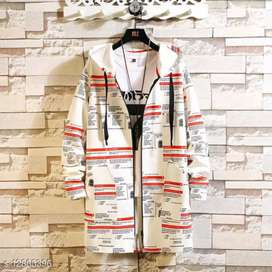 White Trendy Hooded Long Jacket For Men Free Delivery & COD Available