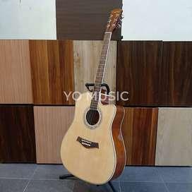 Guitar Acoustic CADENZA CA30C Original Import (FREE CASE DAN PICK)