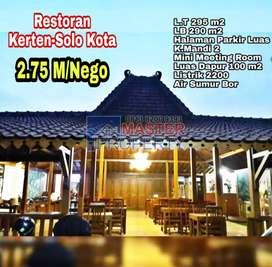 Tempat Usaha / Restoran  Potensial Tengah Kota Solo dijual Murah