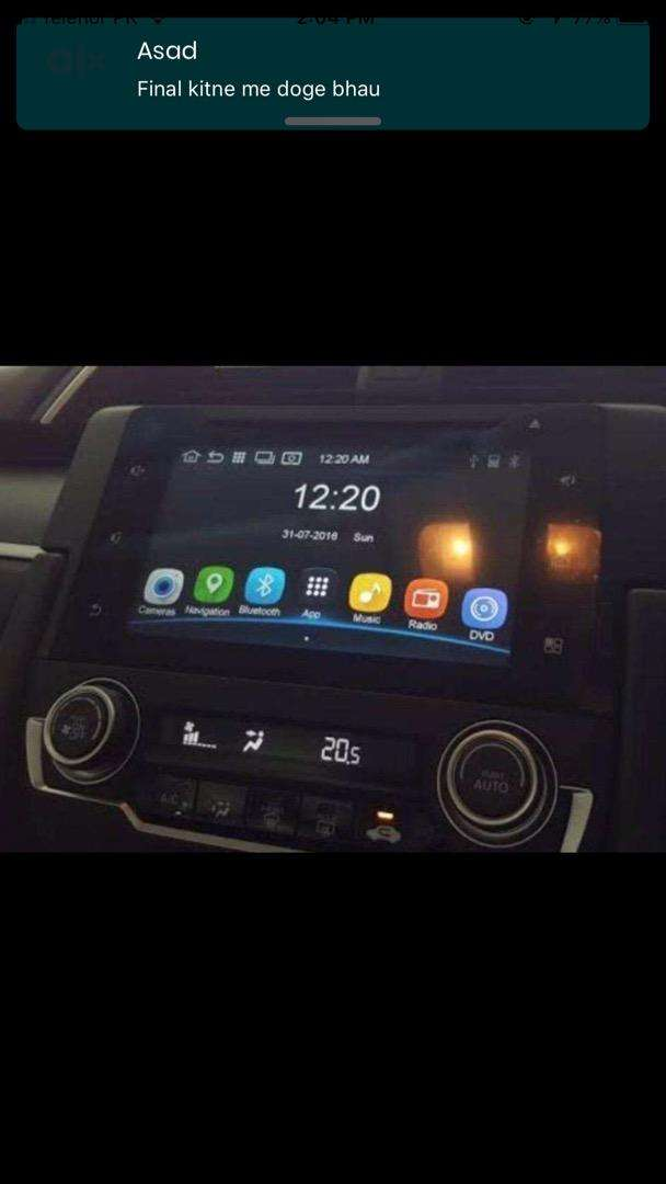 Civic 2017 screen and ac panel 0