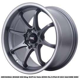 Velg Mobil Ford Fiesta dll HSR R16X7-85 H8X100-114,3 ET42-35 SMG MR