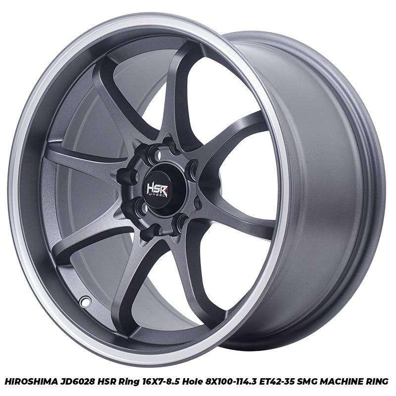 Velg Mobil Ford Fiesta dll HSR R16X7-85 H8X100-114,3 ET42-35 SMG MR 0