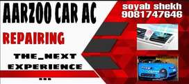 Car end home Ac repairing end Service end fitiing