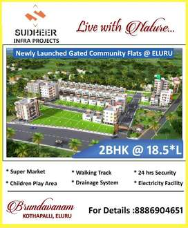 PRE LAUNCHING 2BHK Flats at 18.5*L with Amenities& Loan also at ELURU