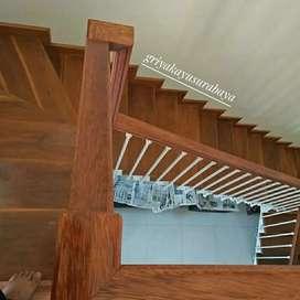 Tangga kayu/railling tangga/dinding kayu/pagar kayu/flooring kayu