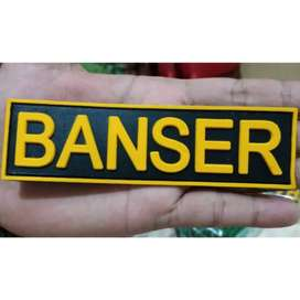 Patch Emblem Velcro Tulisan Banser Tactical Militer Army