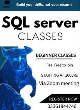 Online classes of  Sql server from beginning