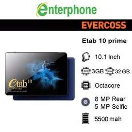 """PROMO Tab E Tab Prime 4/32 10,1"""" BNIB grs resmi 1th cod Bdg Kota"""