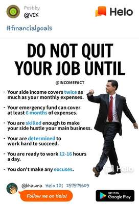 Work with quality = earn income