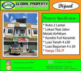 Dijual Ruko Jalan Melati Air Hitam Kondisi Full Keramik
