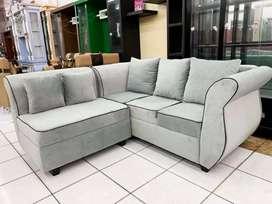 Sofa L pup minimalis full bludru