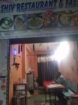 Complete restaurant with raw material wroth rupee 75000