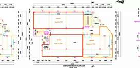 1st floor with 2552 sqft which receives rent rs