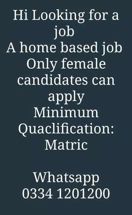 We are offering home based jobs