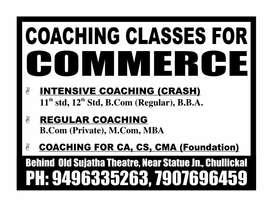 Coaching classes/tuitions for Commerce, Accountancy