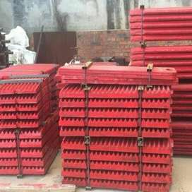 JAW PLATE PE500x750 SPARE PART MESIN CRUSHER