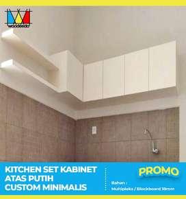 Kitchen set kabinet atas putih custom minimalis Promo