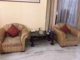 Two single seater sofa.