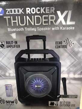 Zook Thunder XL Bluetooth Trolley Speaker With Karaoke
