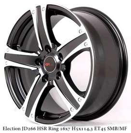 jual pelek mobil lubang 5 model Election JD266 Ring 16x7 H5x1143 ET45