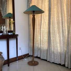 Standing lamp floor kayu jati