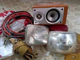 Fx car head lights, speaker, toochain, and battery wires