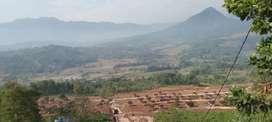 Dijual kavling villa view indah pegunungan di Bogor 100m² cuma 60jt
