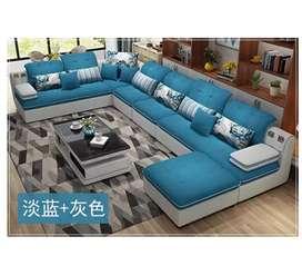 PROMO Sofa minimalis Letter-U modern KUALITAS PREMIUM  tanpa DP