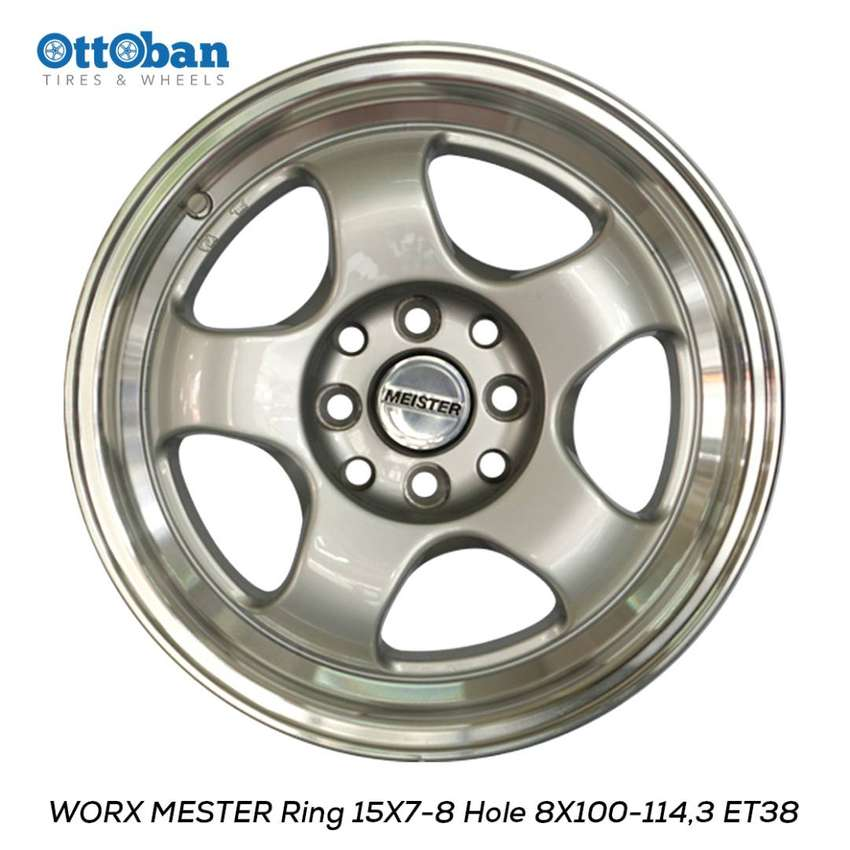 Velg Work Meister R15x7-8 H4x100-114.3 ET+38-32 untuk Starlet, Soluna 0