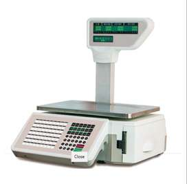 Bar code and receipt printing weighing scale