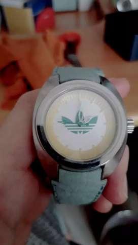 Jam tangan adidas original biru genuine leather