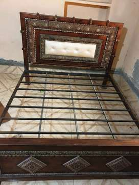 Full iron double bed