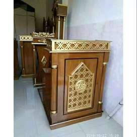 mimbar masjid musola jati kayu jati